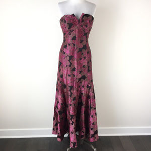 Chetta B S 6 Formal Even Gown brocade Floral dress